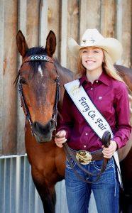 Ferry County Fair Queen Kaci Harman